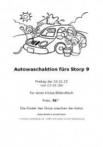 Autowaschaktion am Storpplatz