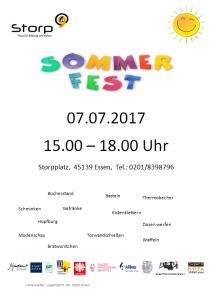 Sommerfest am 07.07.2017 15.00-18.00 Uhr