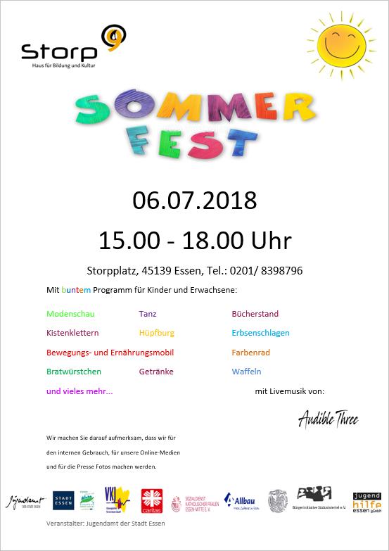 Sommerfest am 06.07.2018 von 15.00 bis 18.00 Uhr